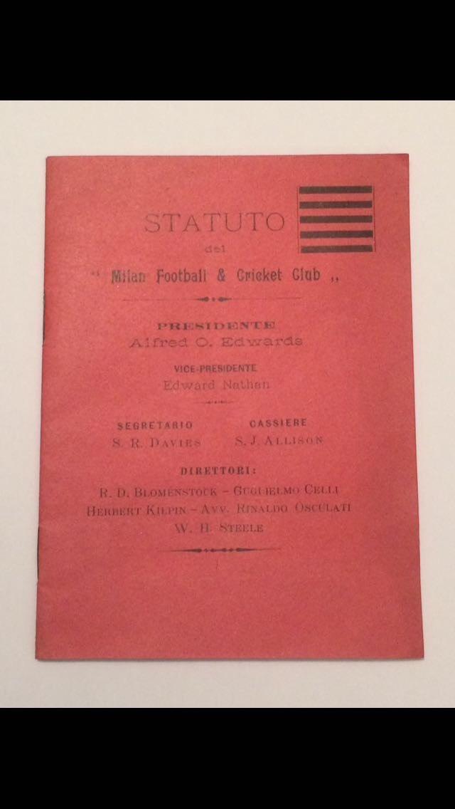 Il primo Statuto del Milan