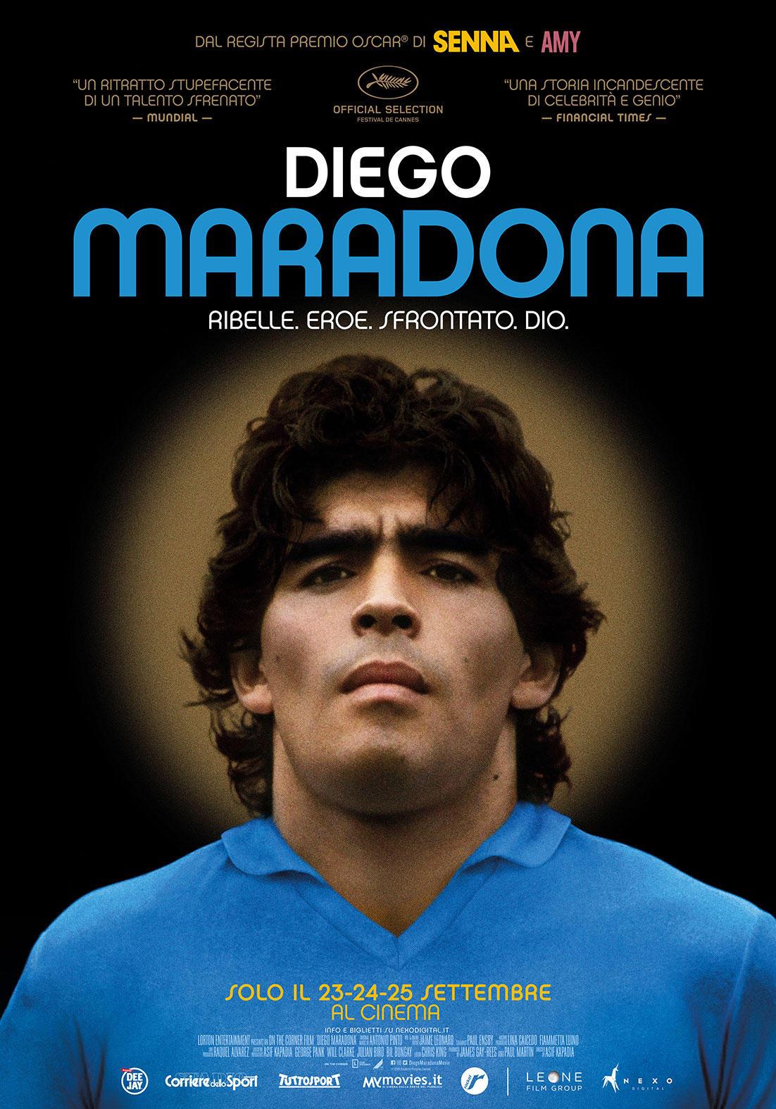 Diego Maradona , le immagini del documentario che arriva al cinema