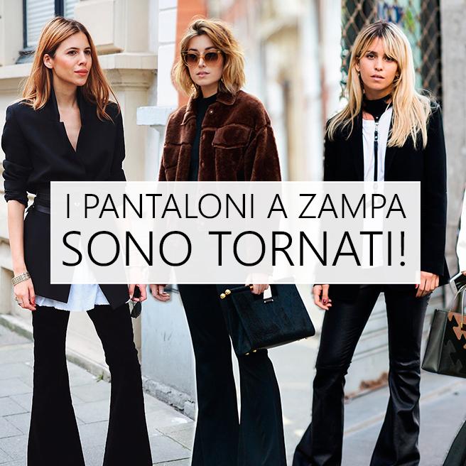 Pantaloni: a zampa sono i più trendy