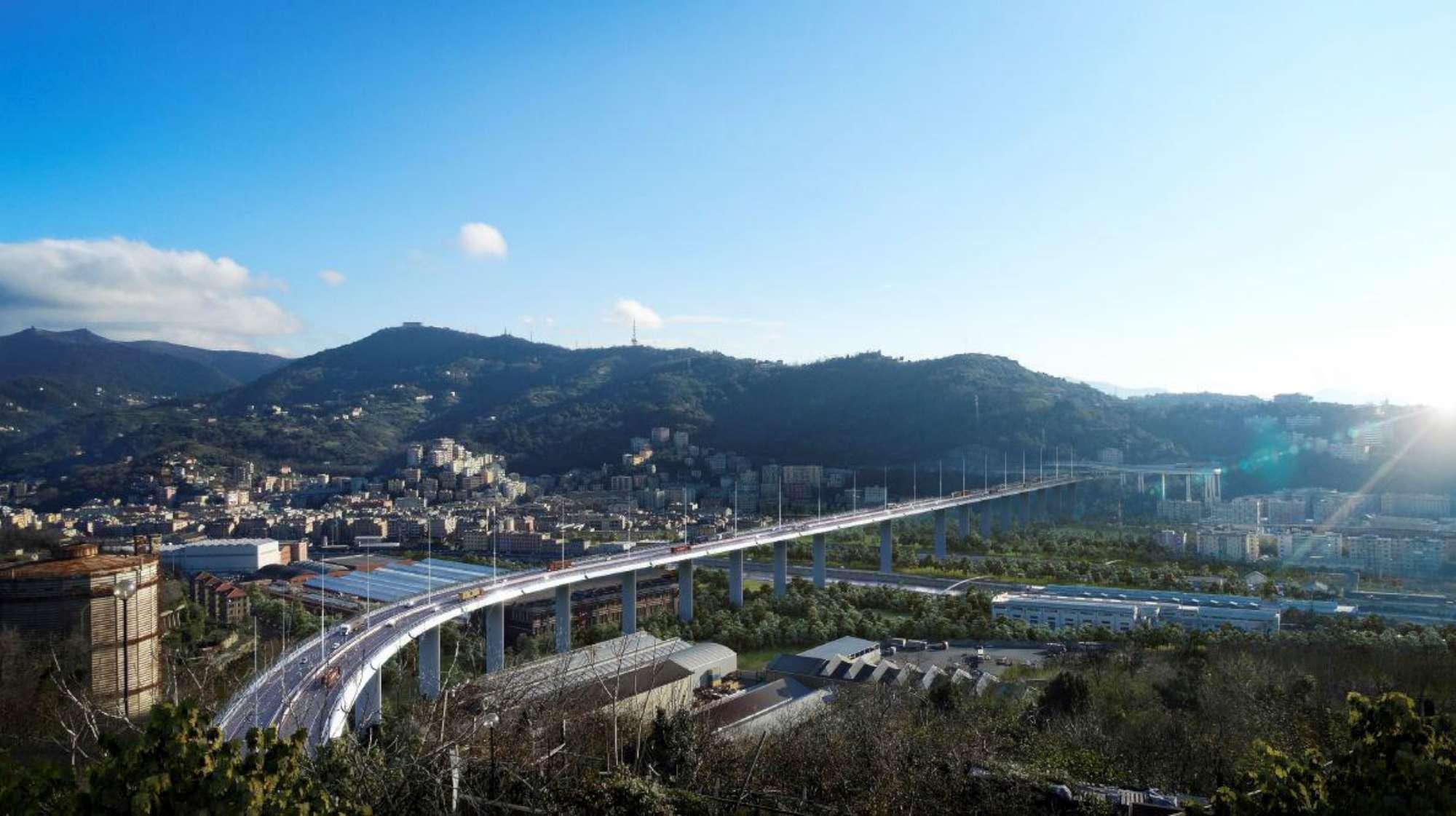 Genova, il ponte  rifatto  da Renzo Piano:  Durerà mille anni