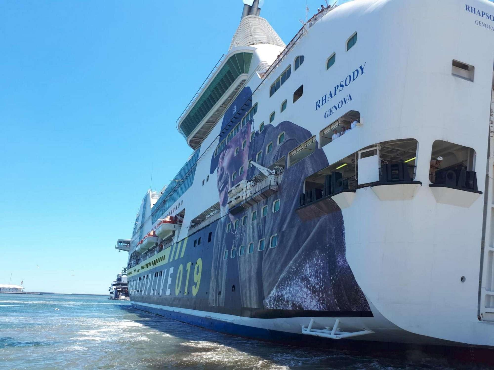 La nave di Vasco arriva in Sardegna