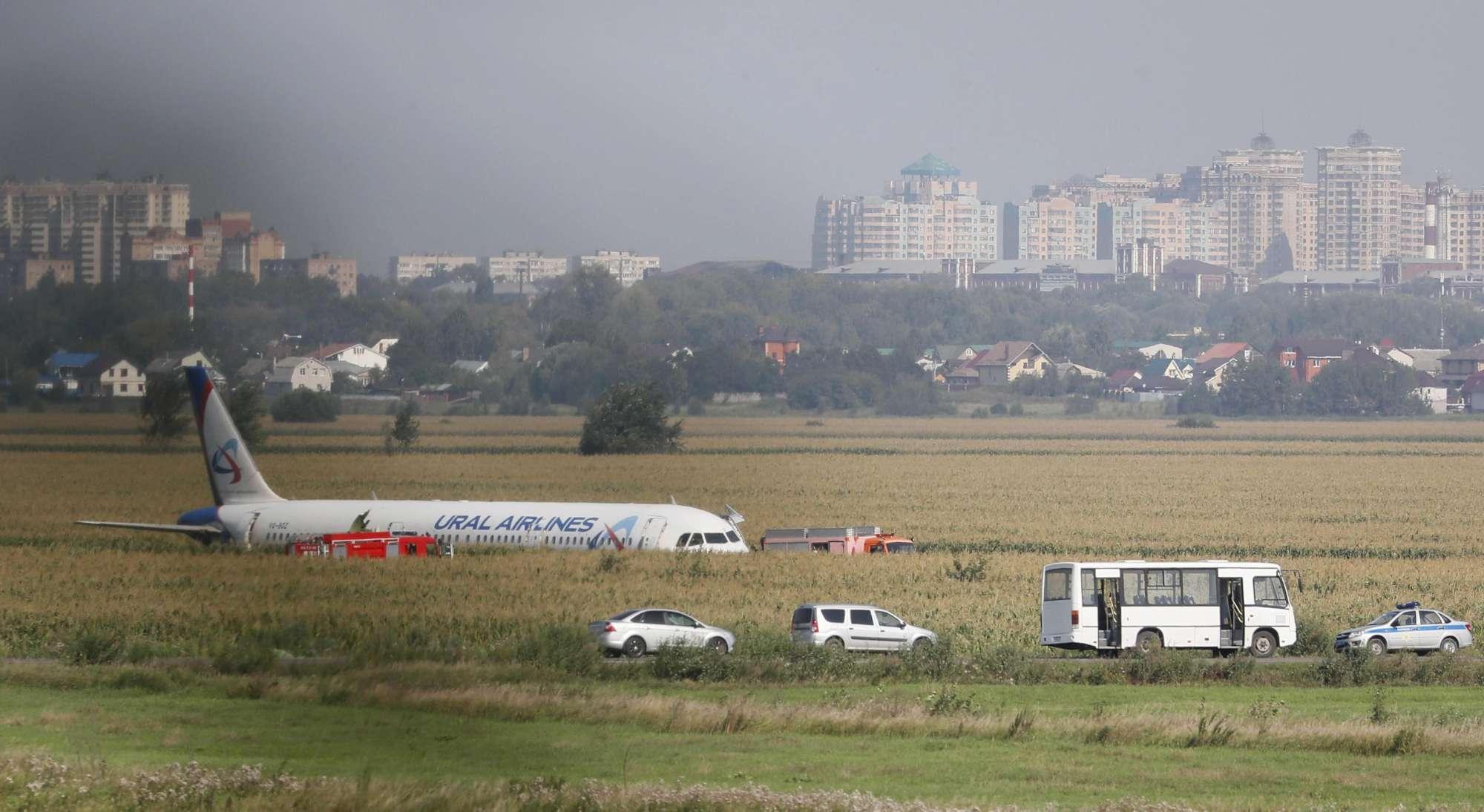 Russia, atterraggio d emergenza dopo un  bird strike