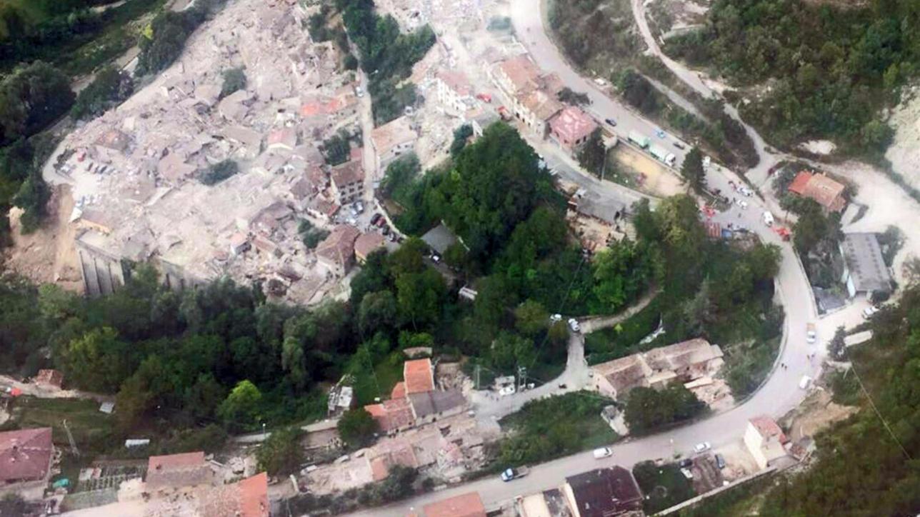 Sisma in Centro Italia, le impressionanti foto dall'alto