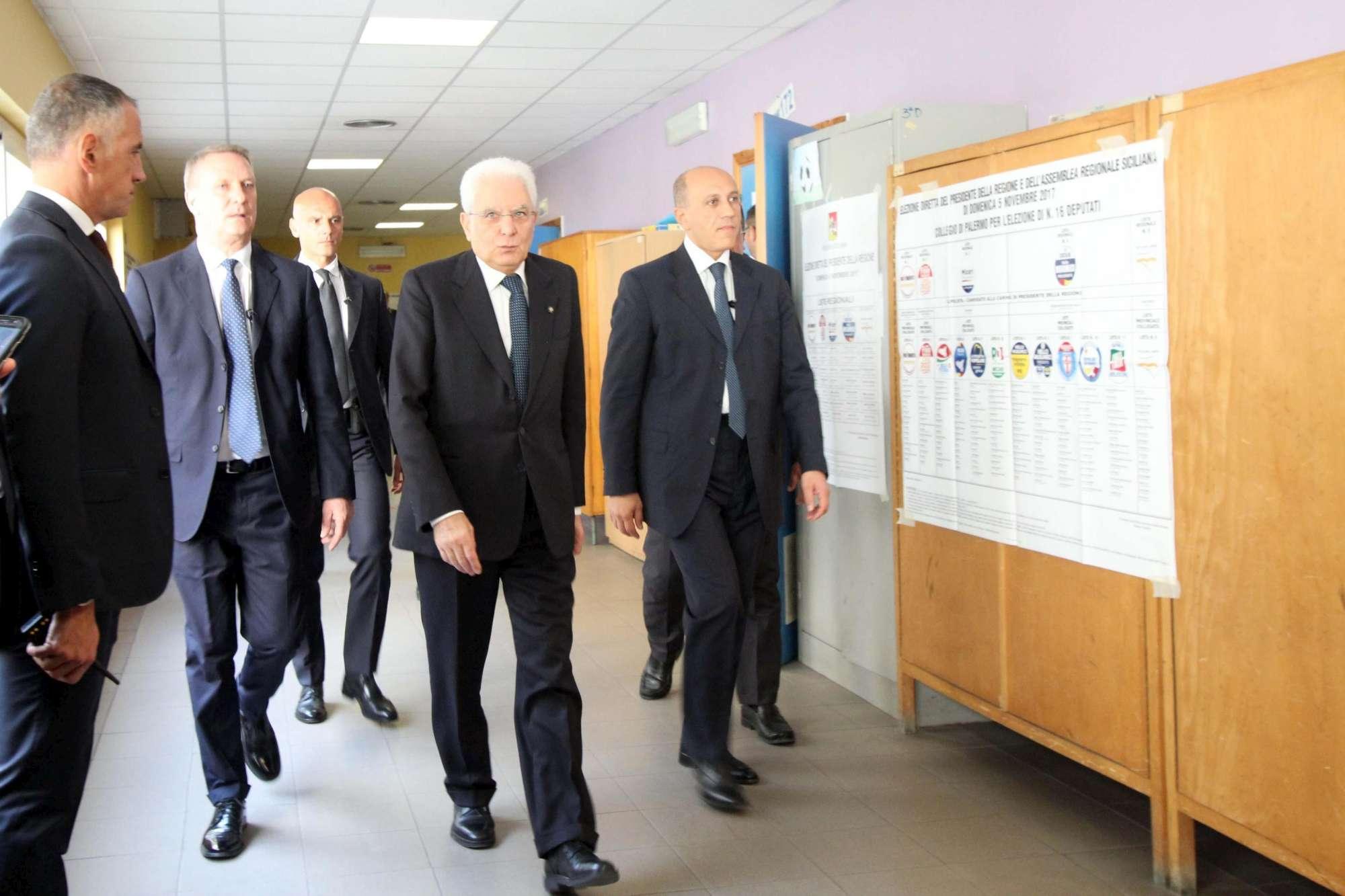 Autorità al voto in Sicilia, anche il Capo dello Stato alle urne per le regionali