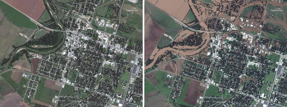 Texas, prima e dopo Harvey: le aree inondate dal fango riprese dal satellite