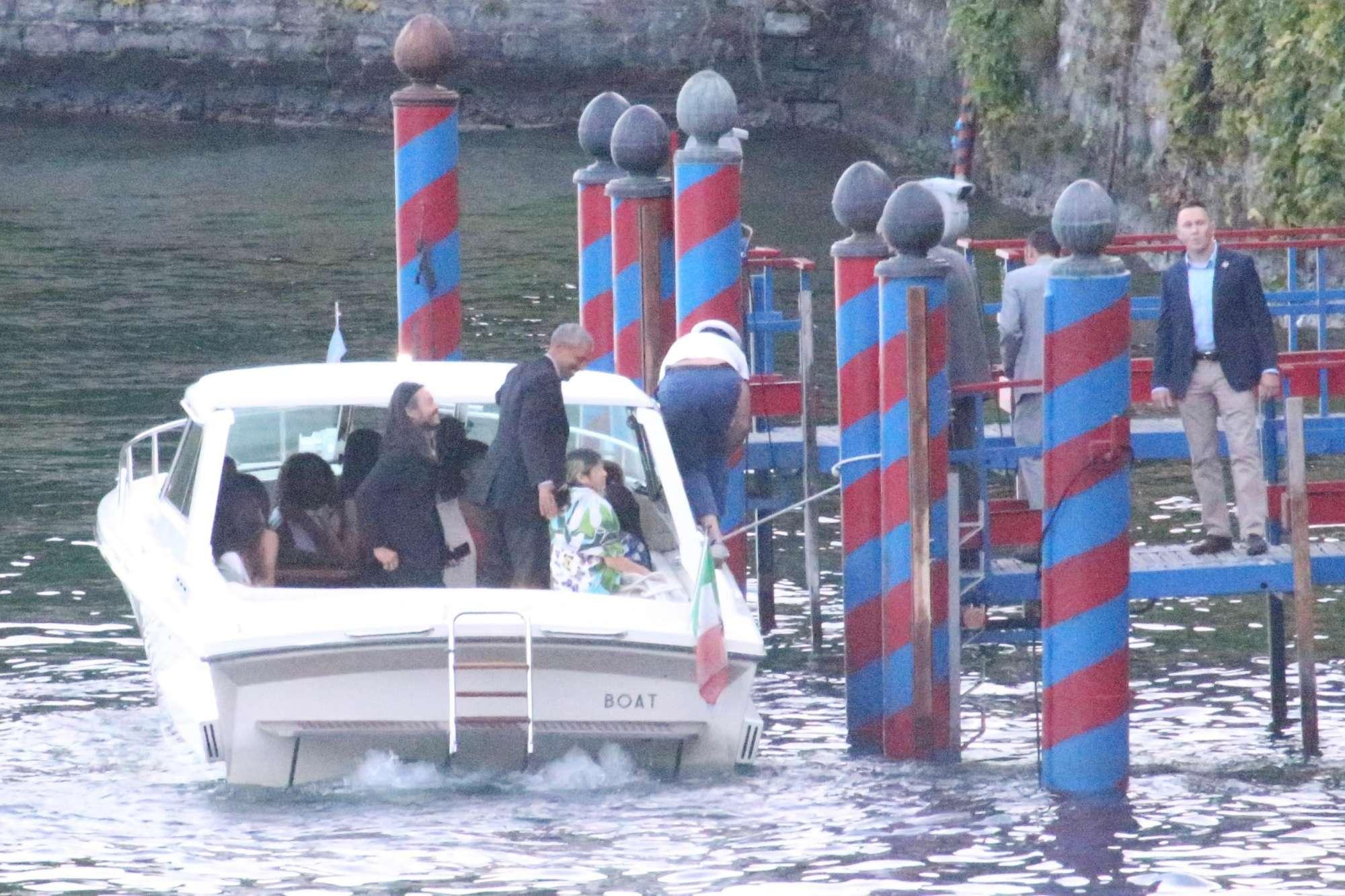 Obama e Clooney, cena a Villa d Este e fuga in motoscafo