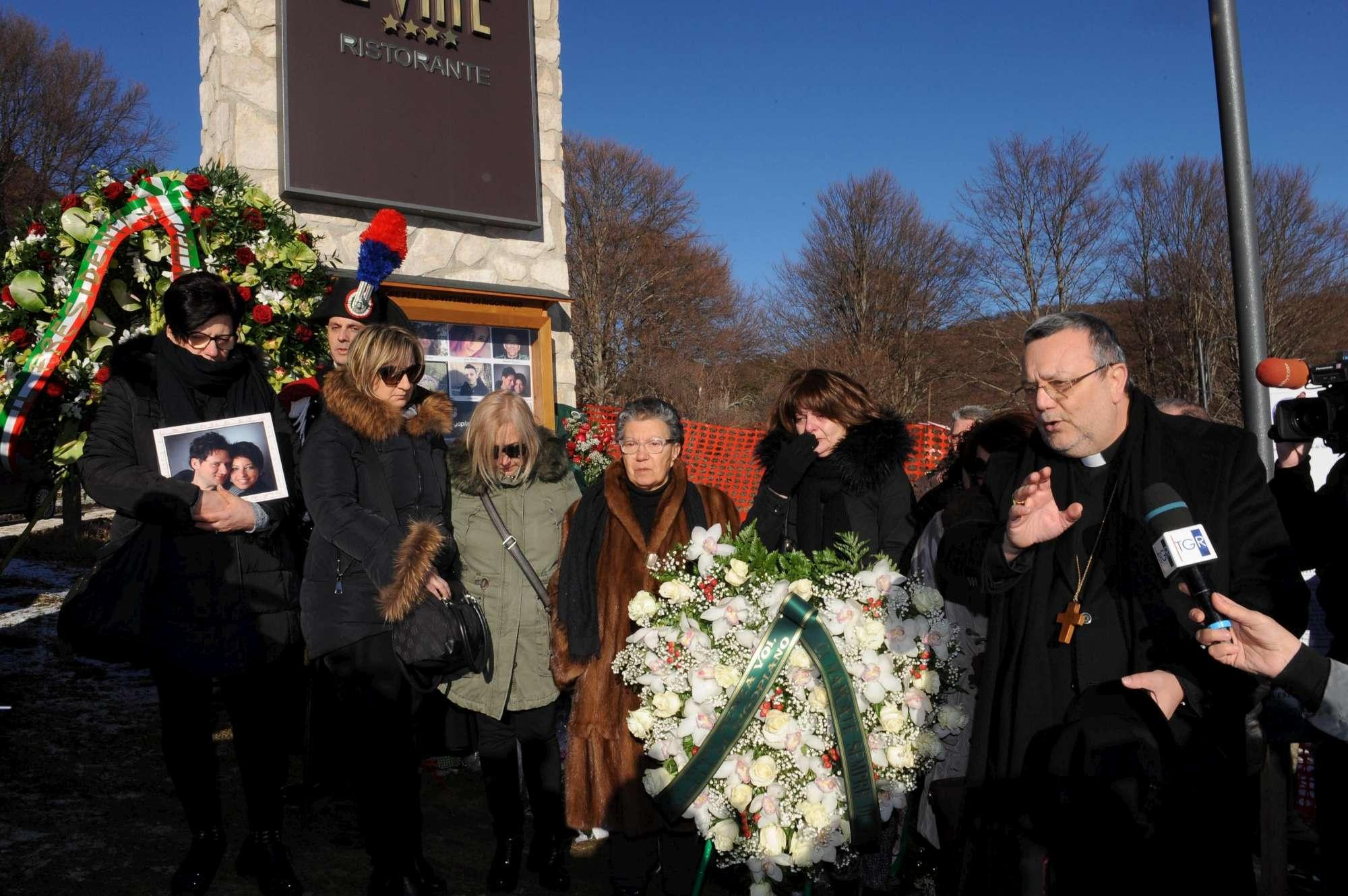 Rigopiano, la commemorazione a un anno dalla tragedia