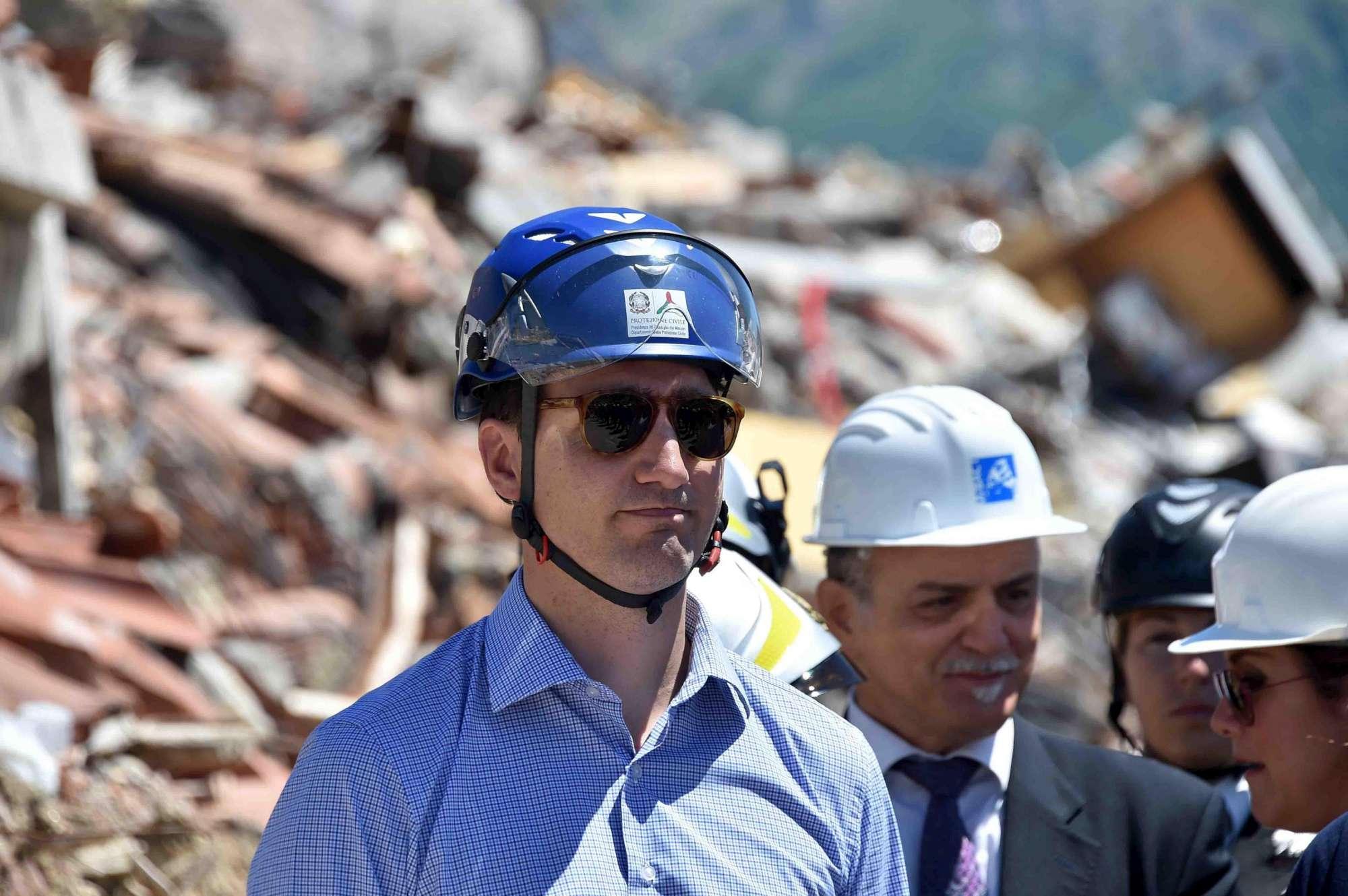 Sisma, il premier canadese Trudeau in visita ad Amatrice