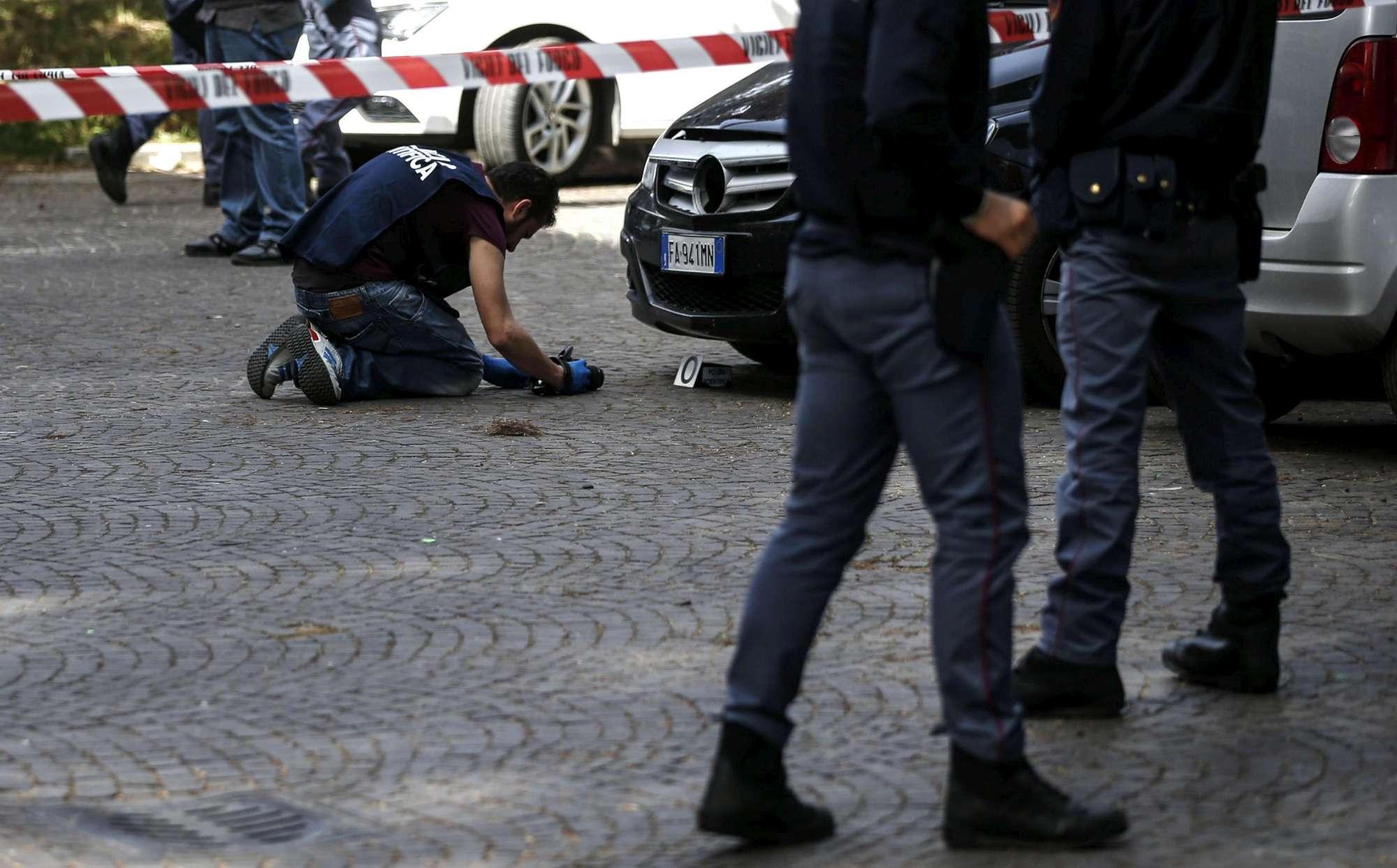 Ordigni a Roma, il punto esatto dell esplosione
