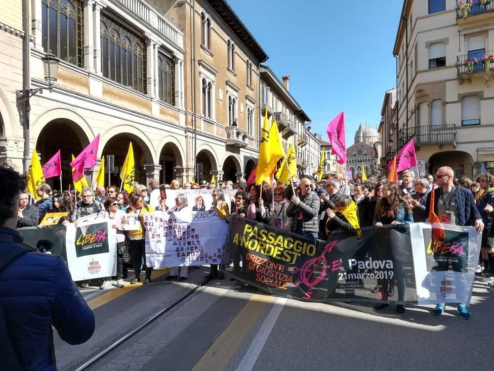 Padova, migliaia in piazza contro la mafia | Don Ciotti:  Leggi più forti