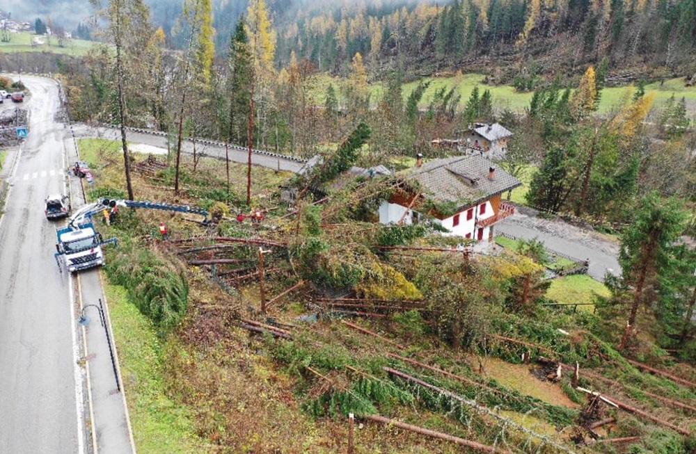 Montagne devastate e foreste cancellate sulle Dolomiti