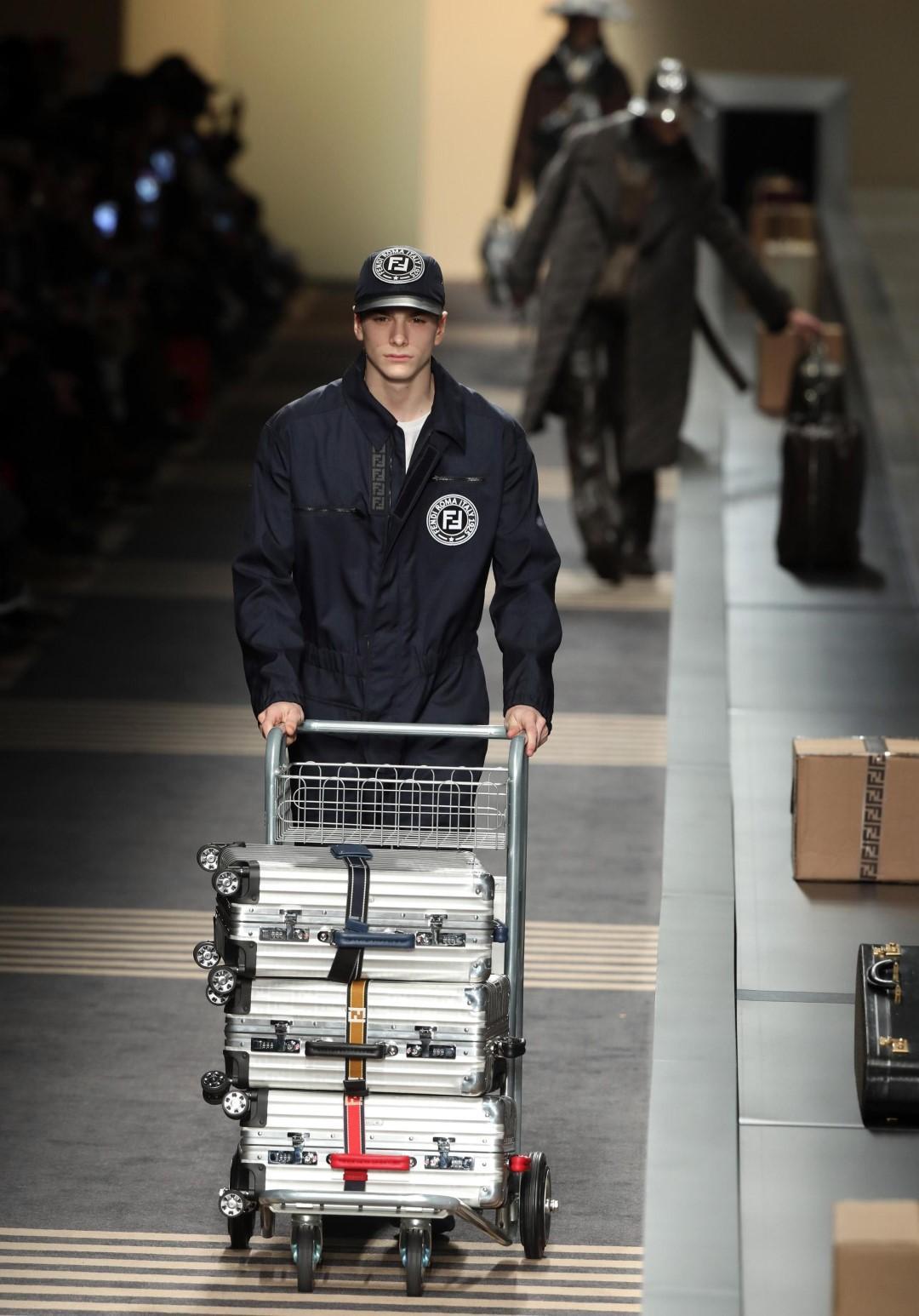 Moda: l uomo viaggiatore di Fendi