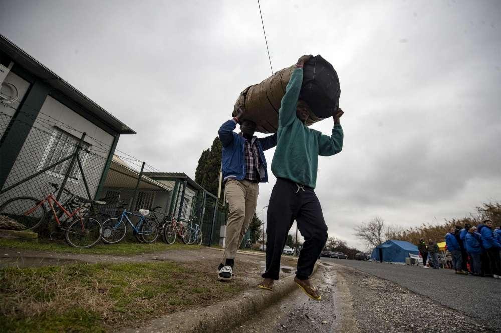 Roma, i migranti al Cara di Castelnuovo