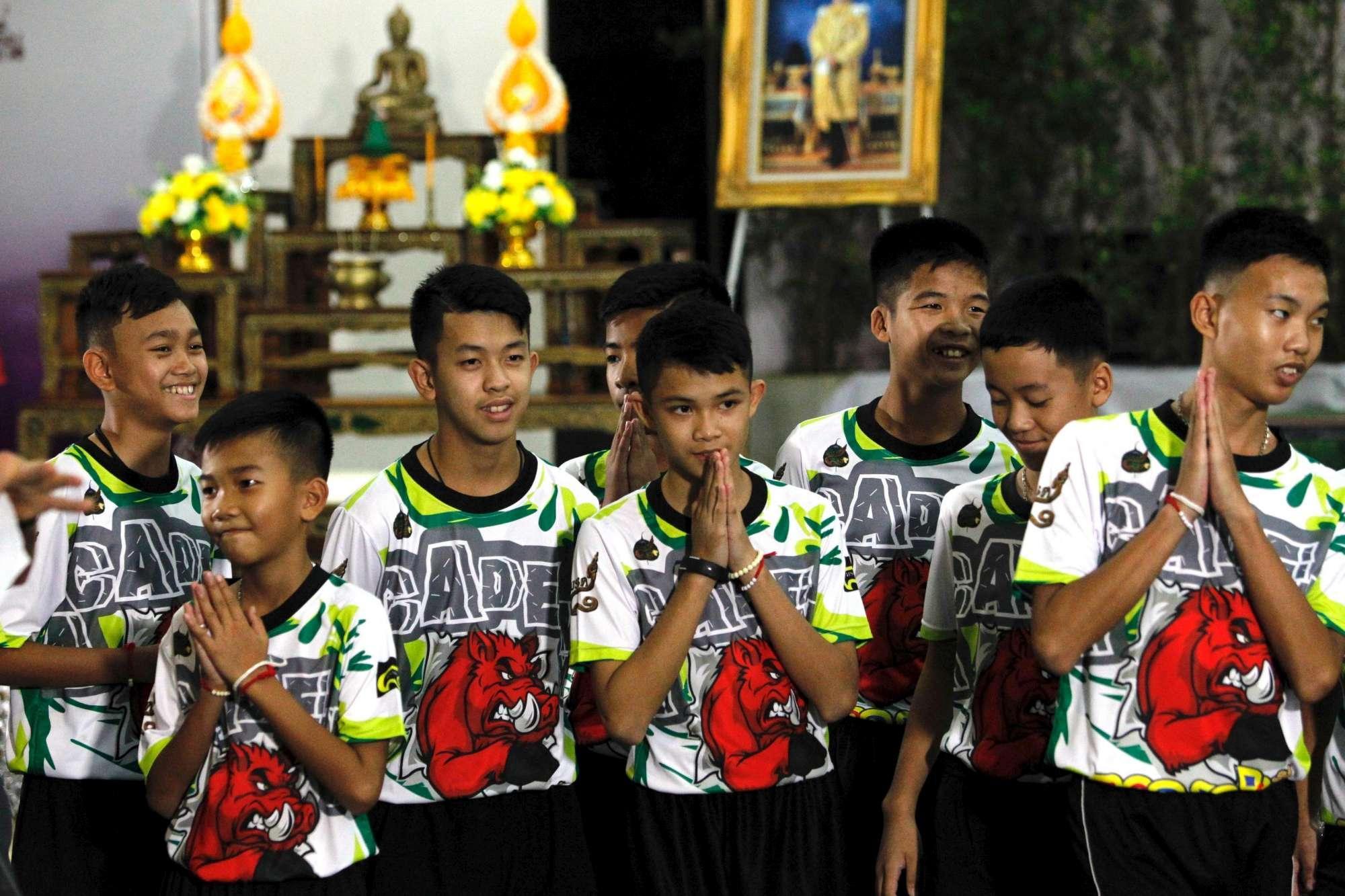 Thailandia, ecco i ragazzi della grotta: