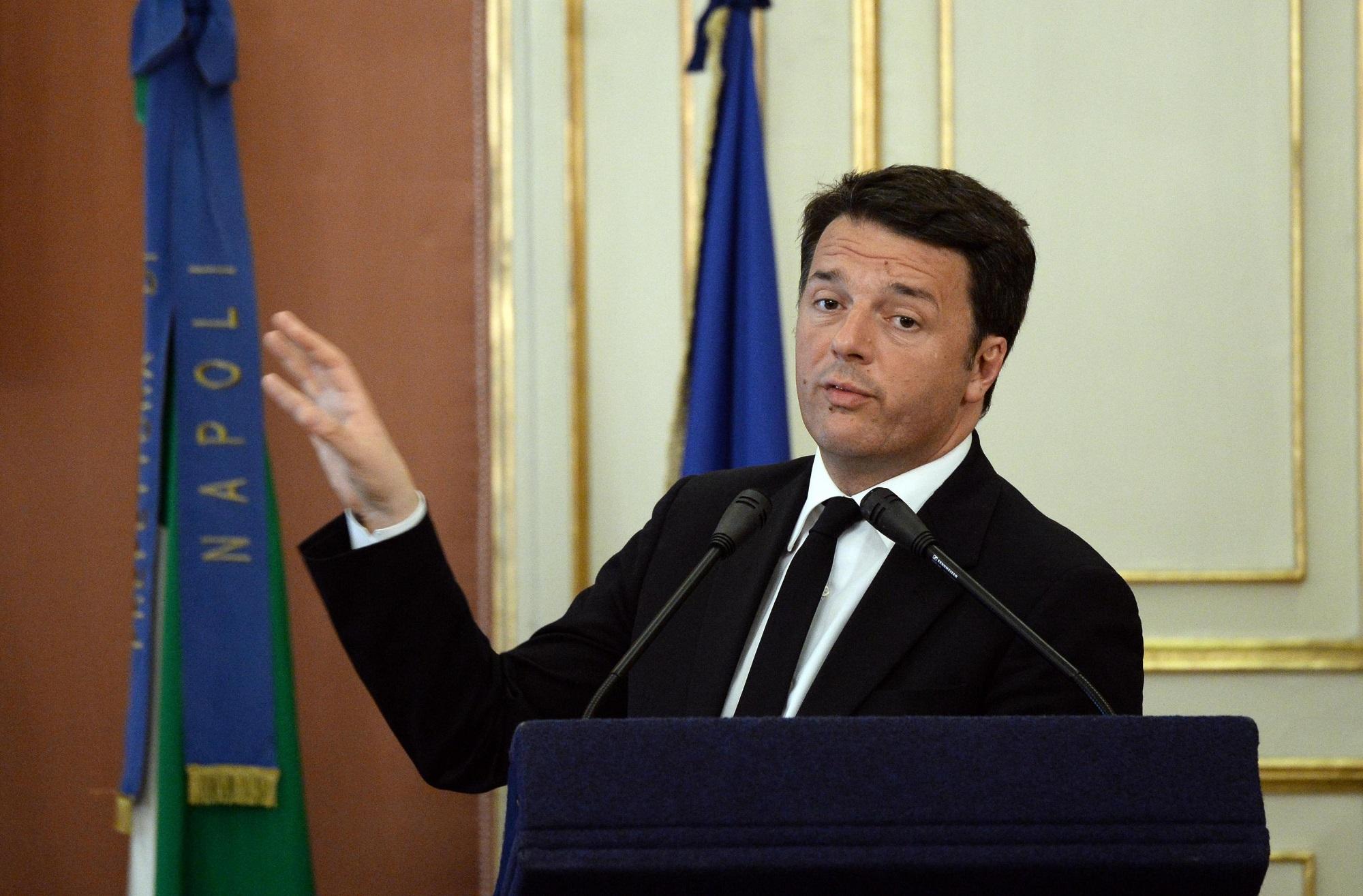 Renzi annuncia il rilancio di Bagnoli