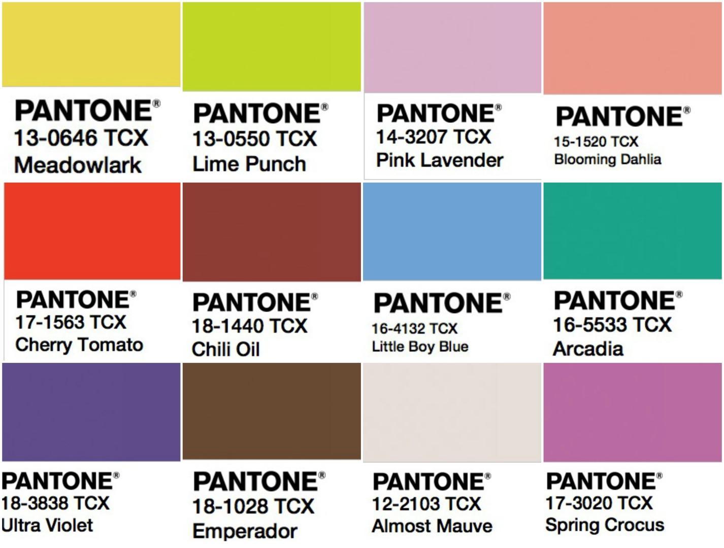 I colori Pantone per la primavera estate 2018