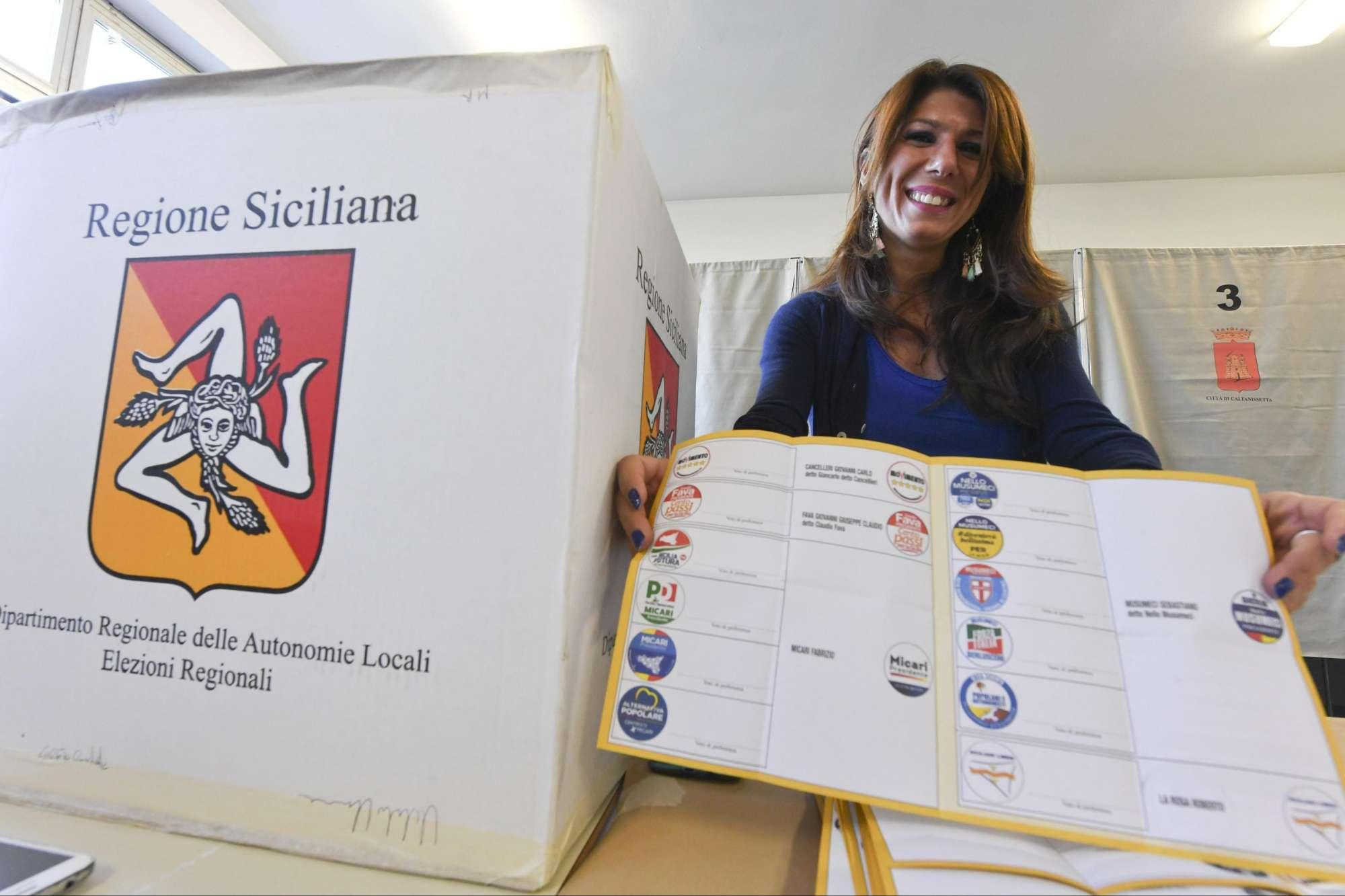 Sicilia, elettori alle urne per le regionali