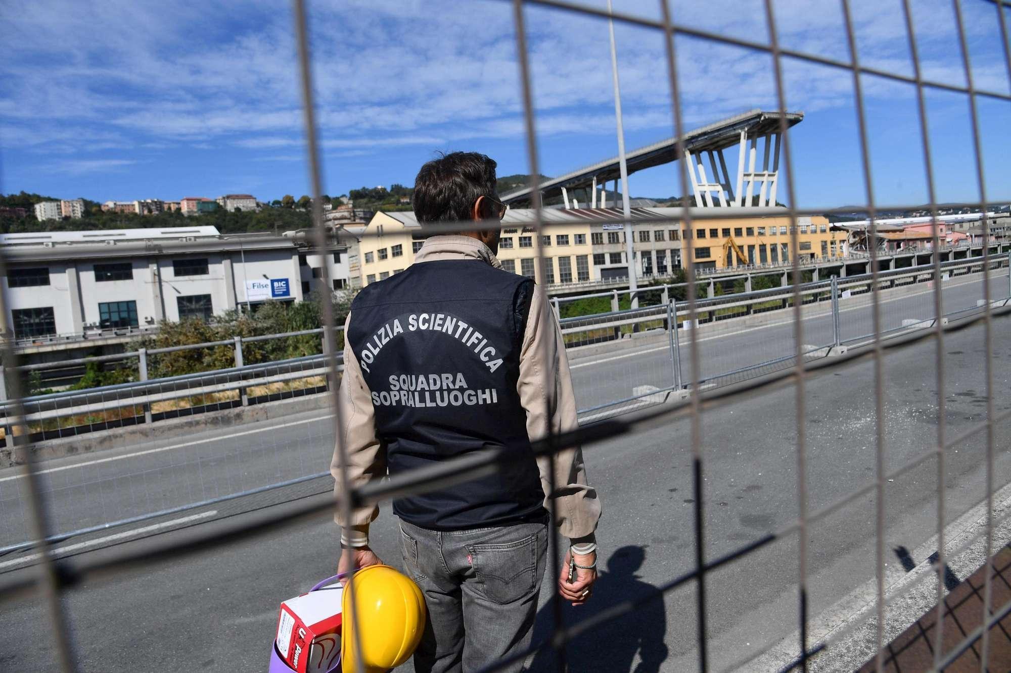 Crollo ponte, al via il sopralluogo dei periti