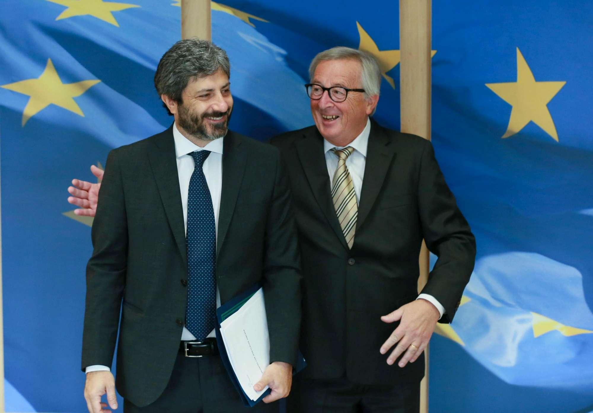 Ue, Roberto Fico incontra Jean-Claude Juncker