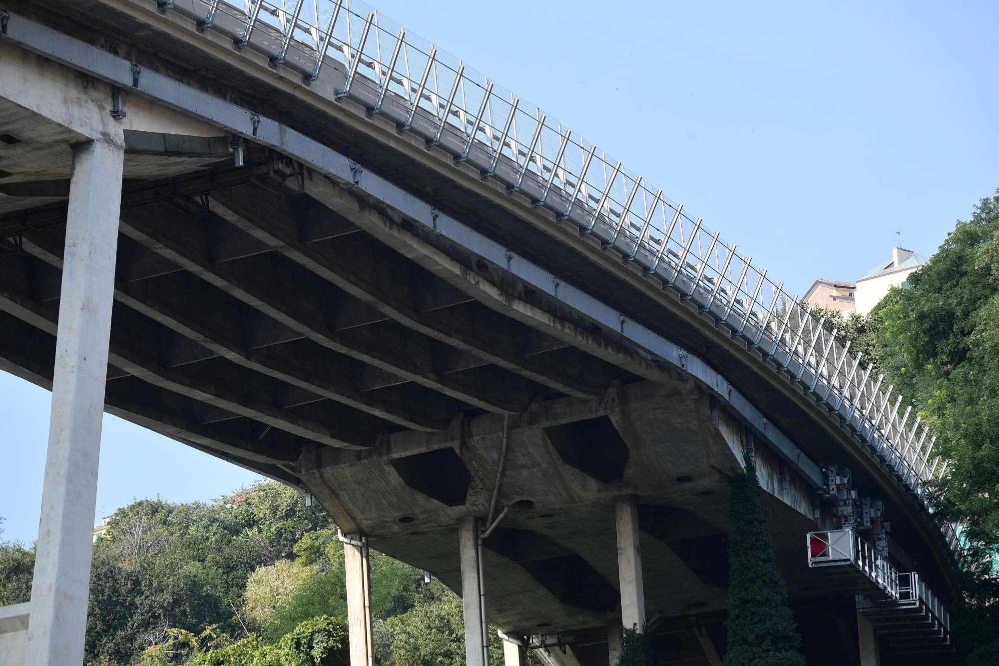 Genova, parte ovest del ponte Morandi gravemente deteriorata