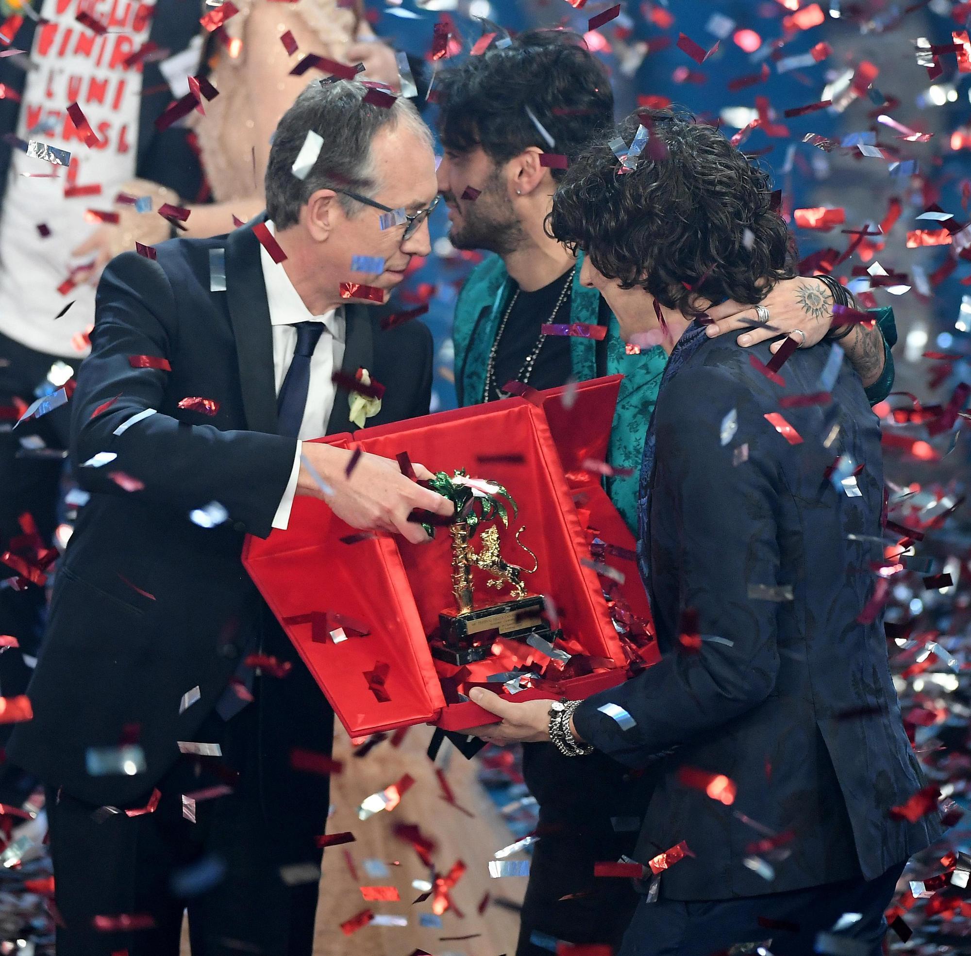 Le foto del trionfo di Ermal Meta a Sanremo 2018