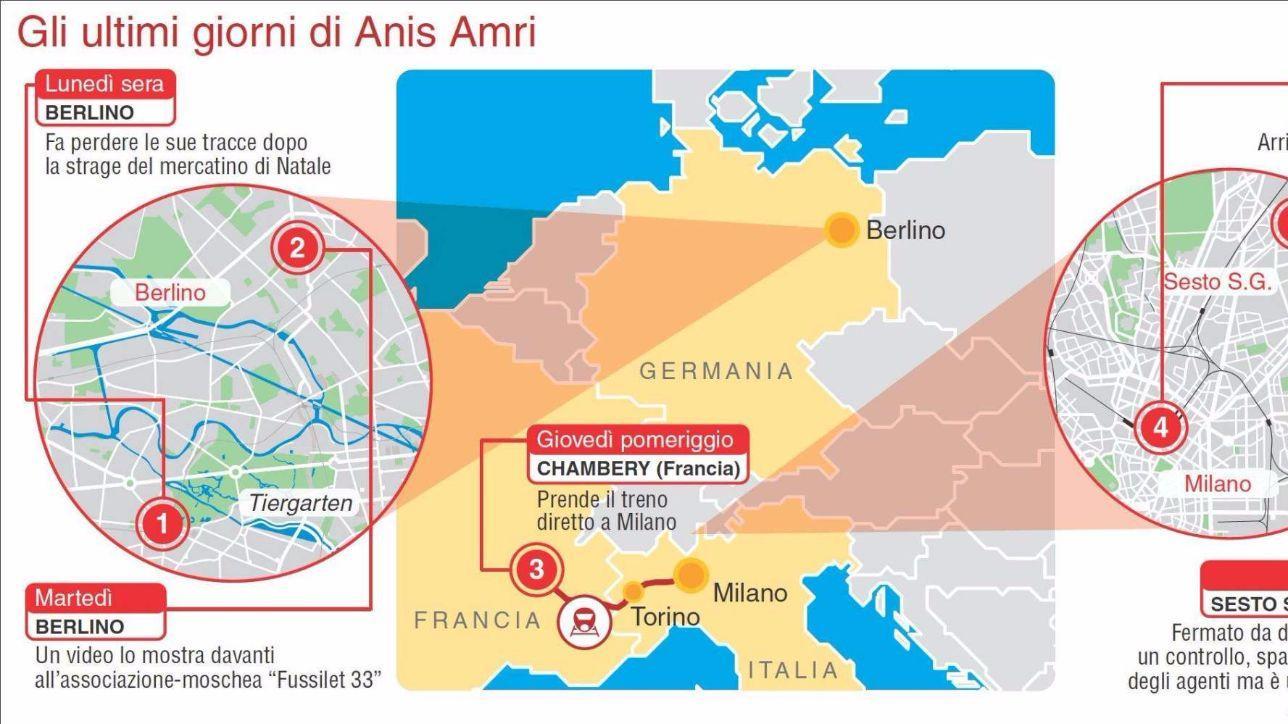 Da Berlino a Milano: l'ultimo viaggio di Anis Amri