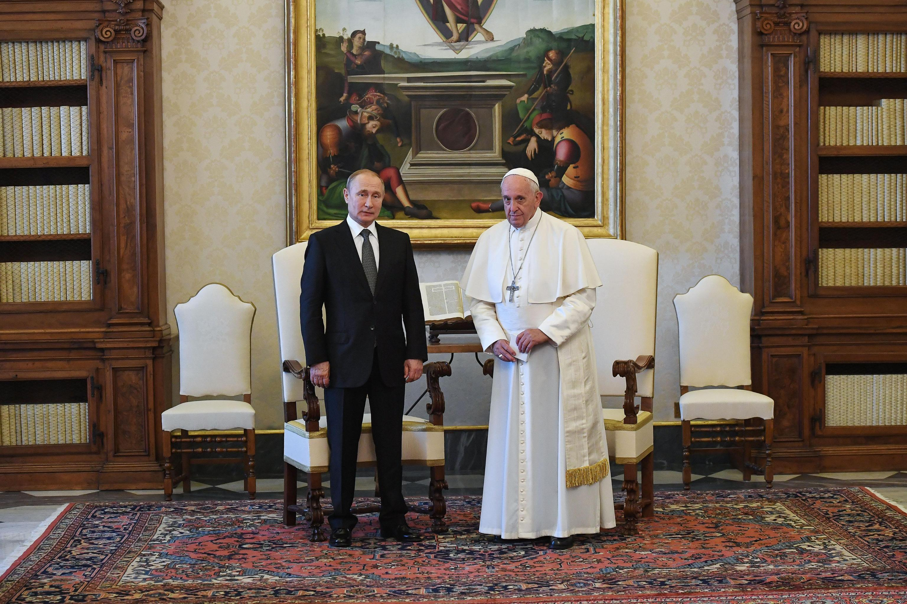 Vaticano, Putin incontra papa Francesco