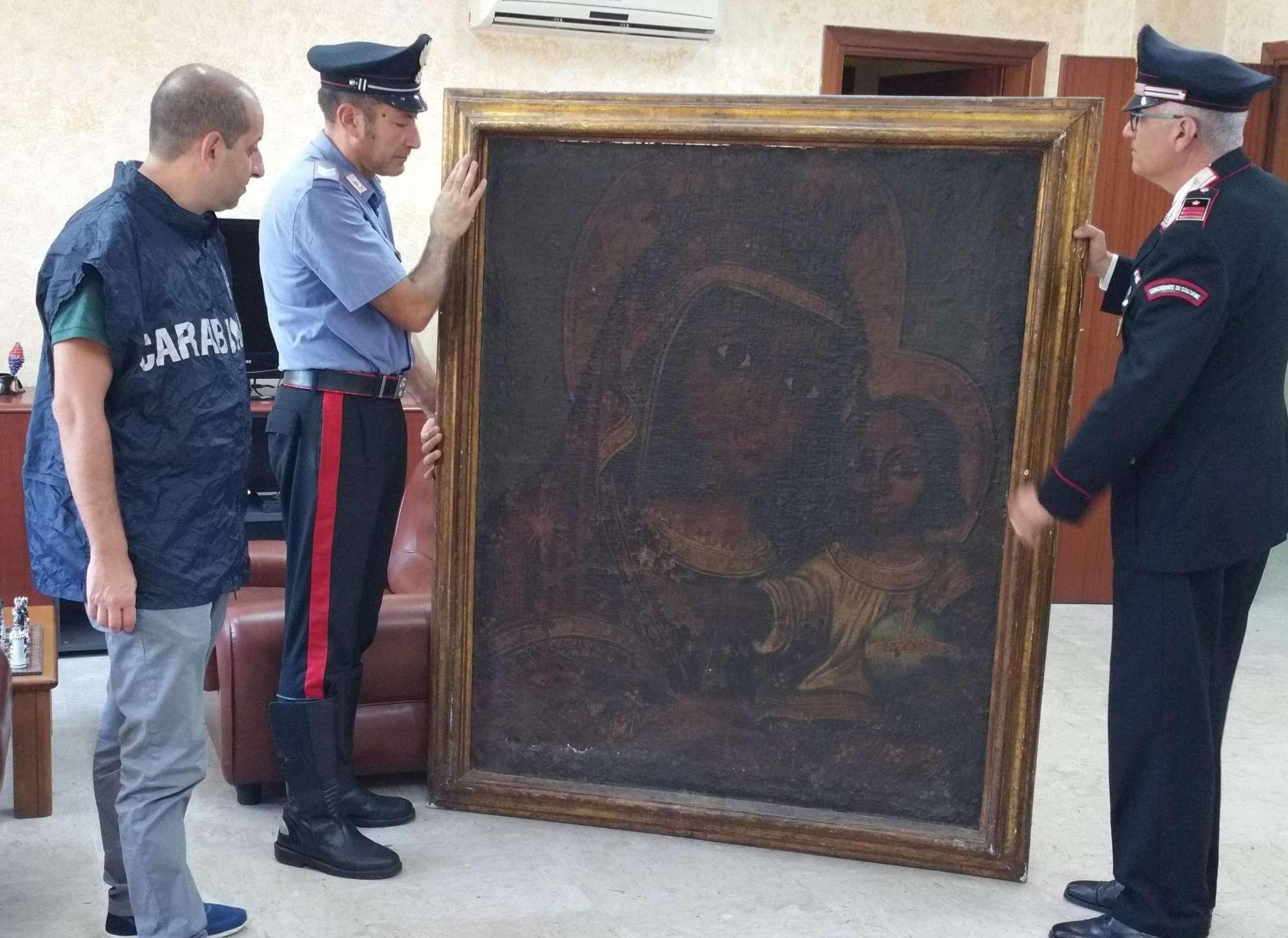Recuperato ad Avellino un quadro del  600 rubato nel 2005