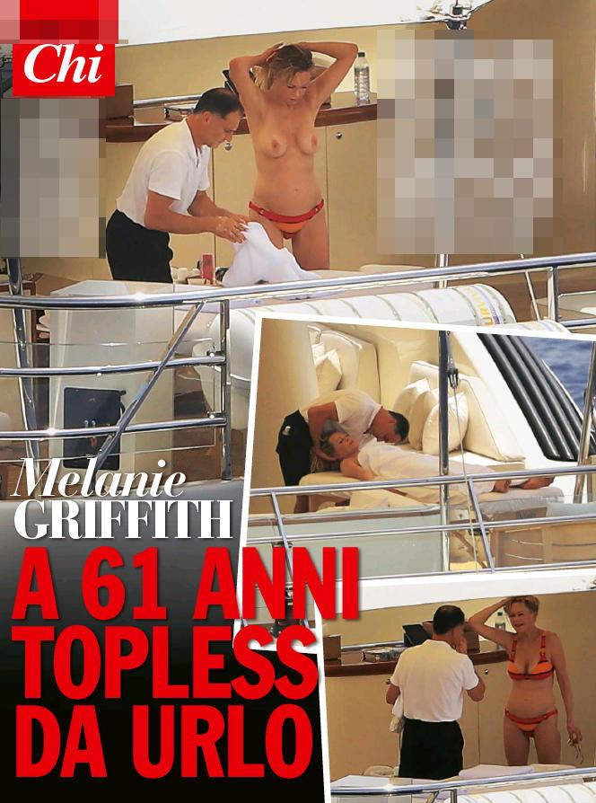 Melanie Griffith, 61 anni e non sentirli: topless e curve da applauso a Ibiza