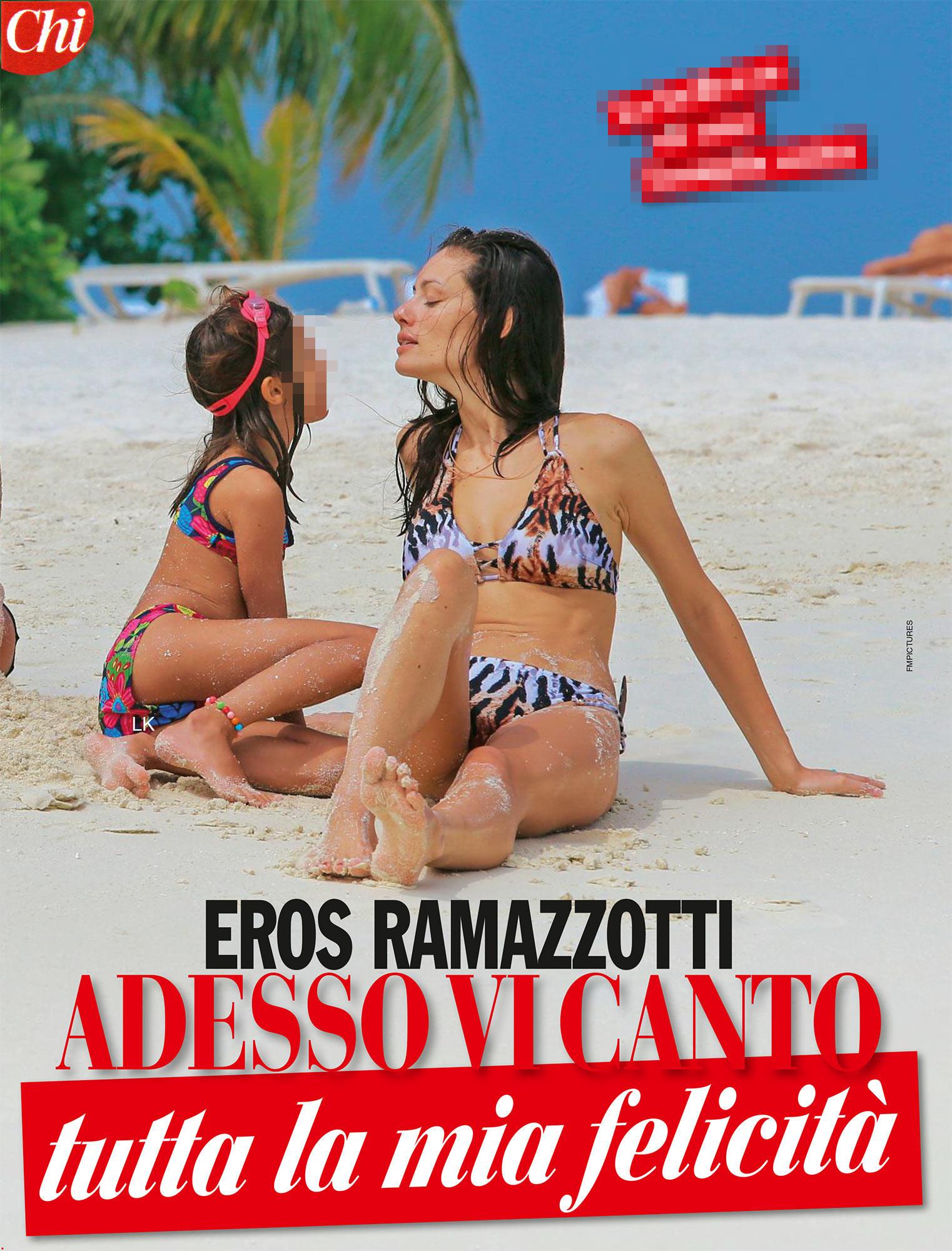 Ramazzotti e Pellegrinelli, baci e passione alle Maldive