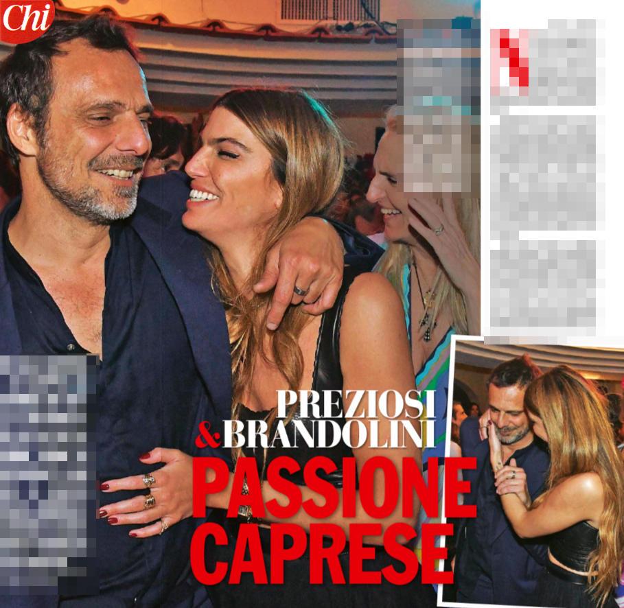 Preziosi e Brandolini, coppia a sorpresa a Capri