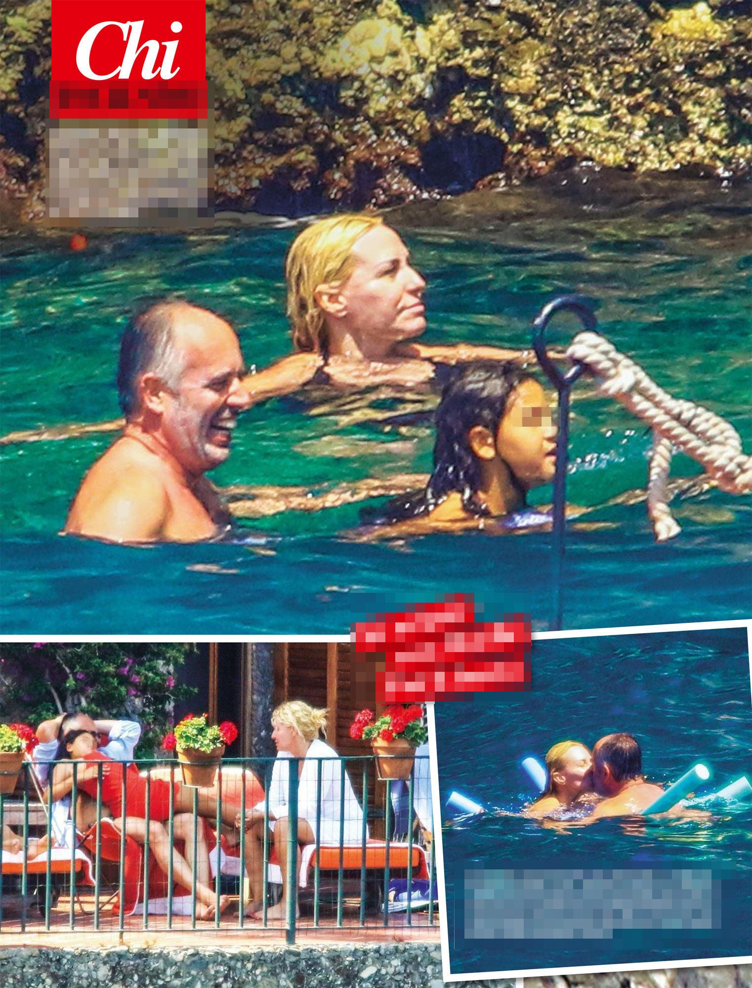Antonella Clerici, bikini sexy a Portofino
