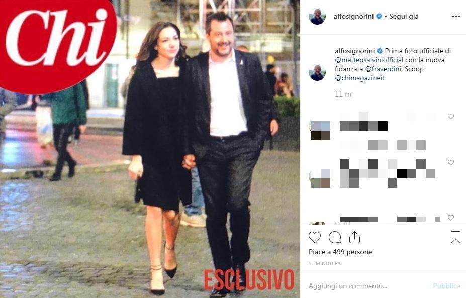 """""""Chi"""" Mostra La Prima Foto Di Matteo Salvini Con La Nuova"""