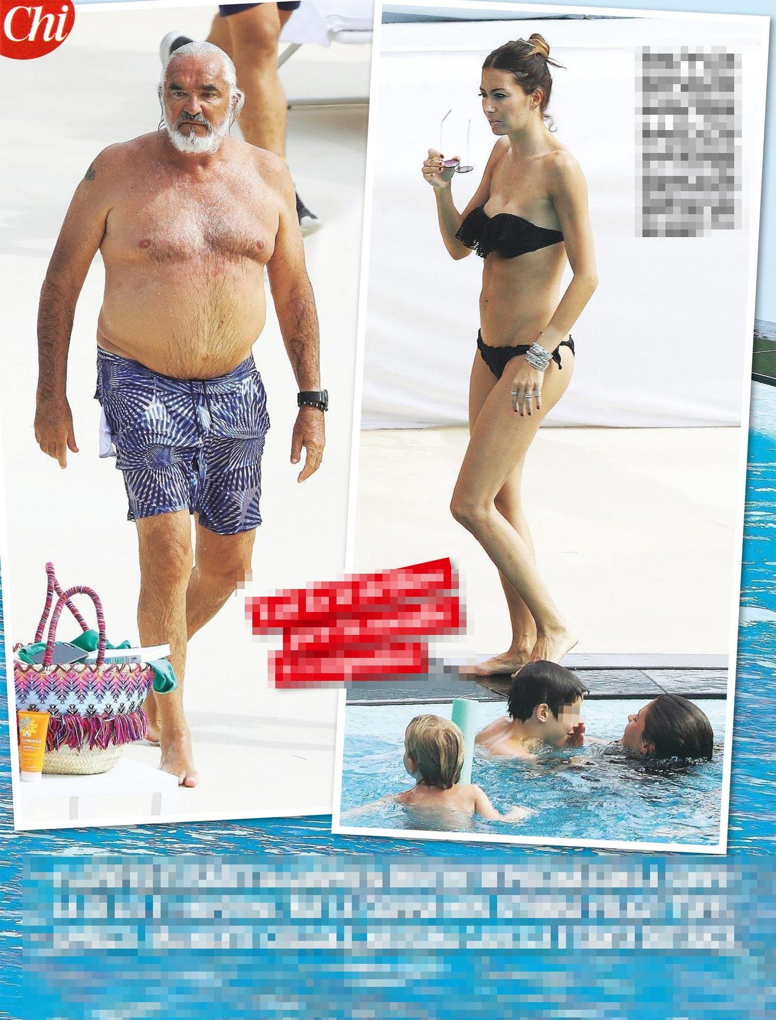 Elisabetta Gregoraci e Flavio Briatore, musi lunghi a bordo piscina