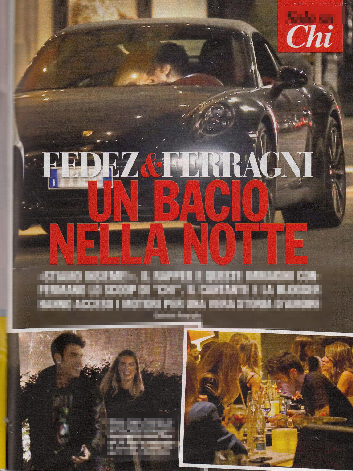 Fedez e Chiara Ferragni, baci milanesi