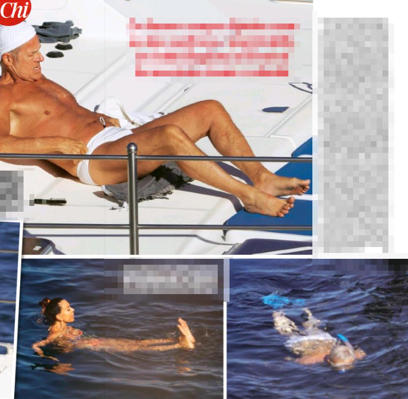 Claudio Baglioni, abbronzato e in perfetta forma a Lampedusa
