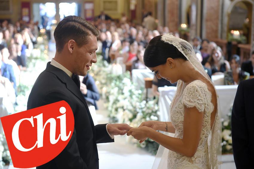 Su Chi le foto delle nozze di Belotti e la dedica a Giorgia