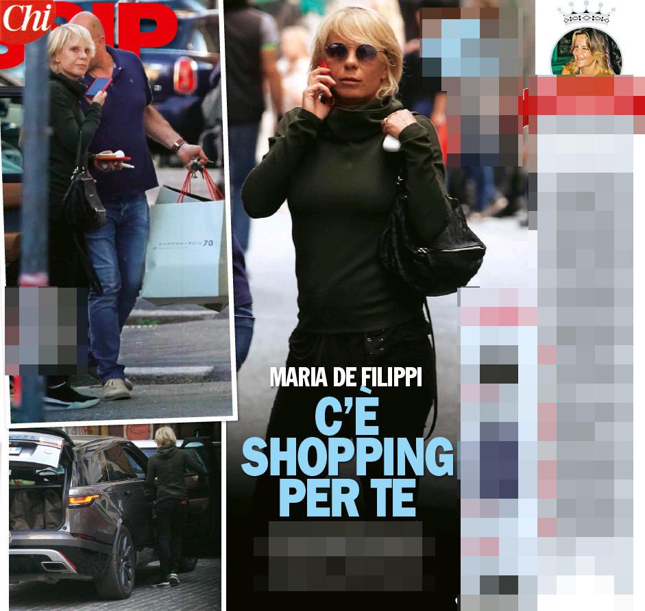 Maria De Filippi, shopping griffato a Roma