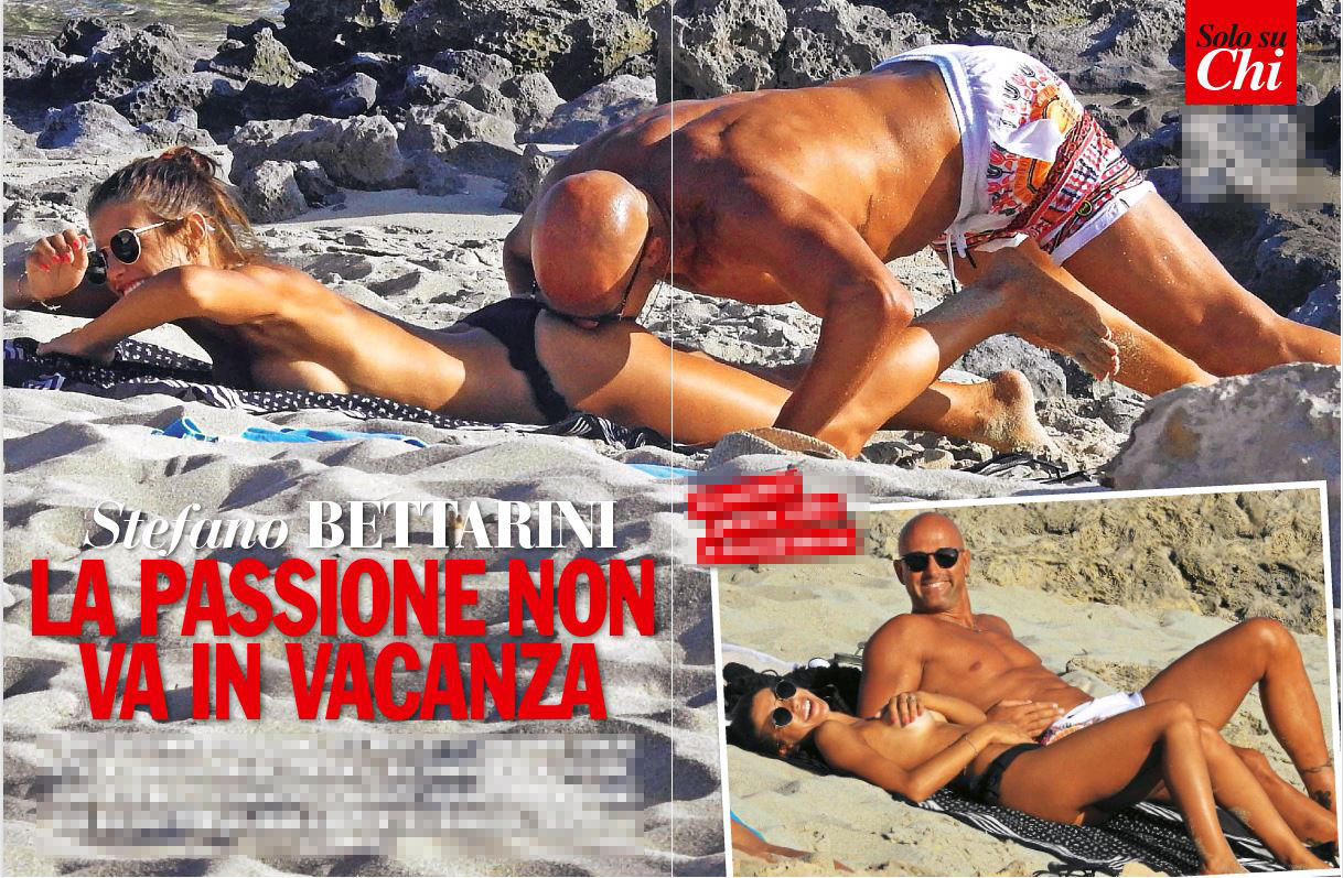 Stefano Bettarini e Nicoletta, coccole bollenti sotto il sole