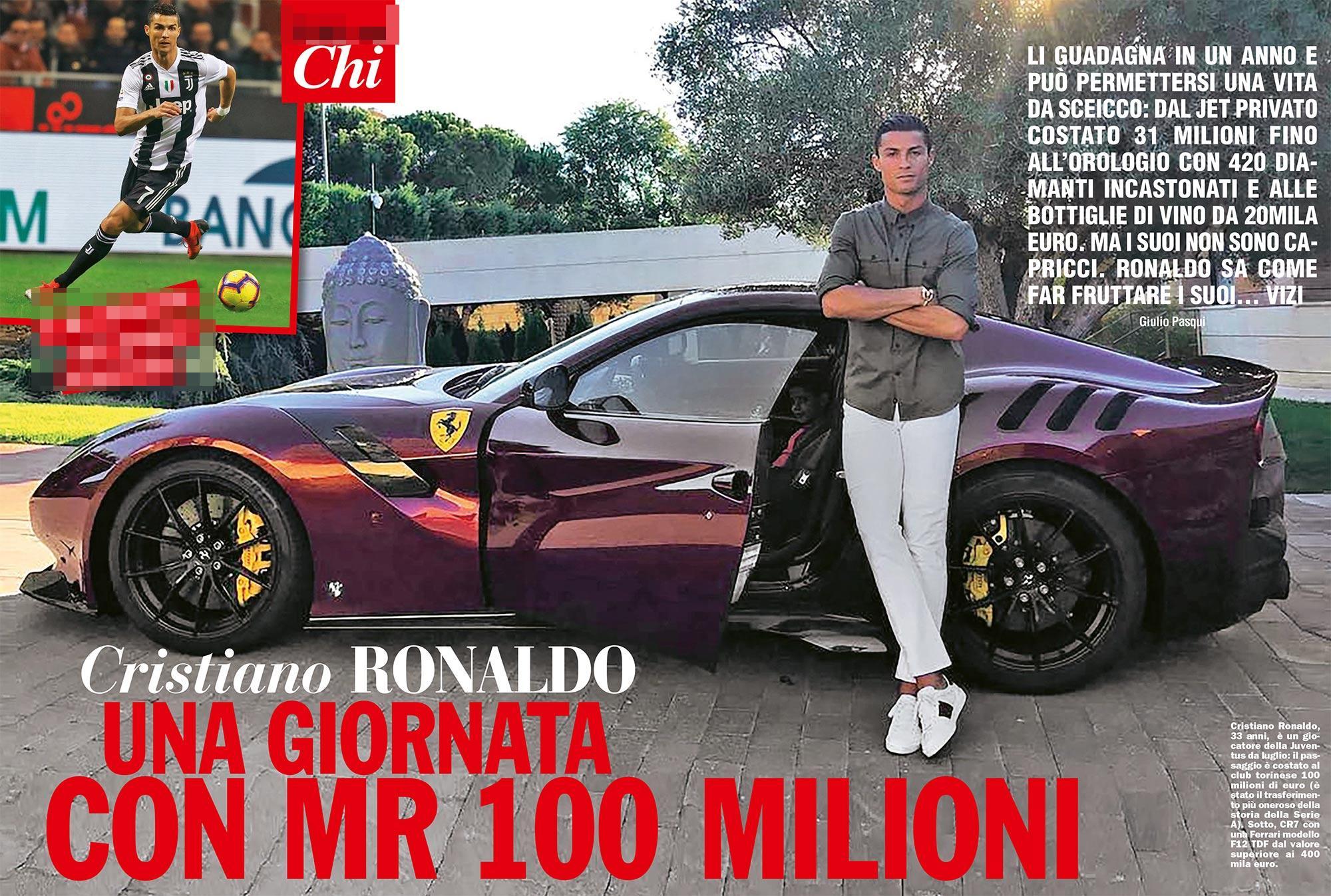 Che lusso Cr7! Un giorno con il calciatore più pagato al mondo