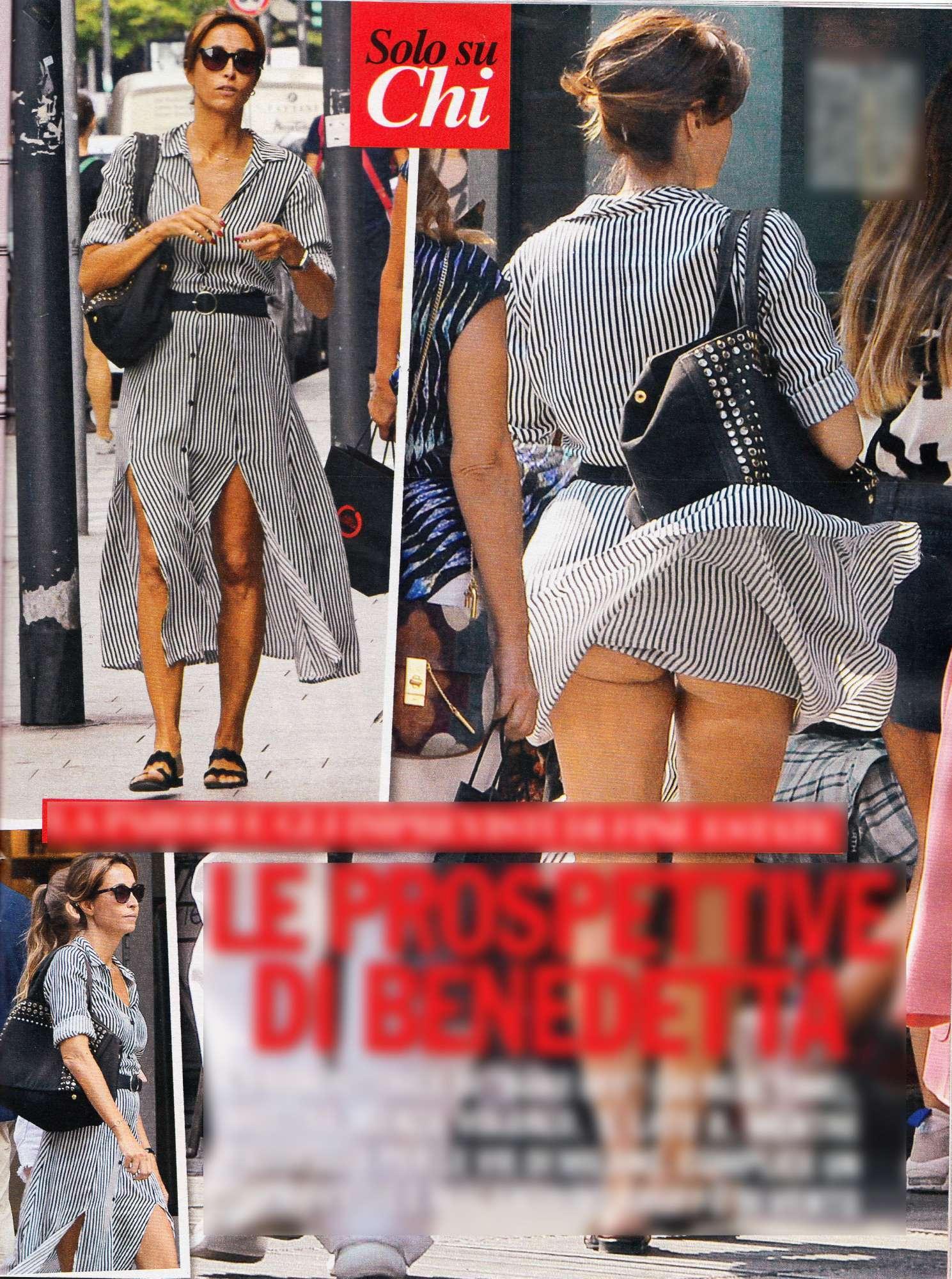 Benedetta Parodi, incidente sexy a Milano