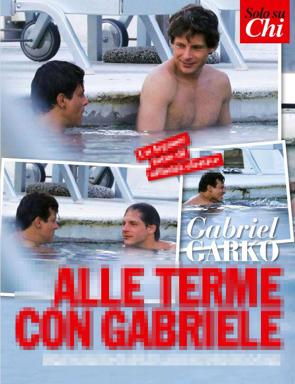 Gabriel Garko, relax alle terme con l amico Gabriele