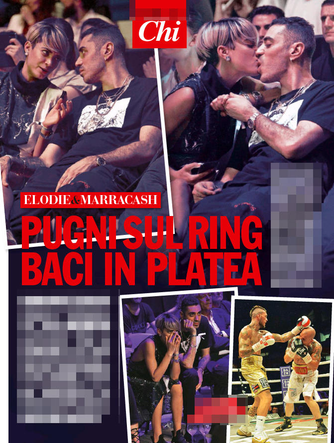Elodie e Marracash tra baci e morsi sul ring