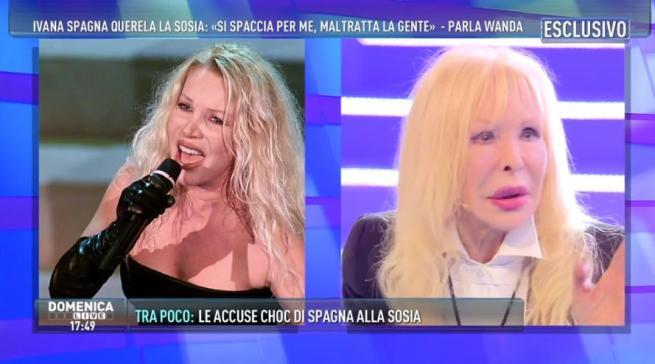 A  Domenica Live  Wanda Fisher, la sosia di Ivana Spagna:  Non mi spaccio per lei
