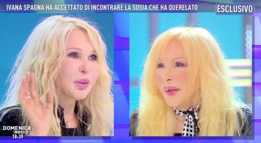 Ivana Spagna e la sosia si incontrano in tv