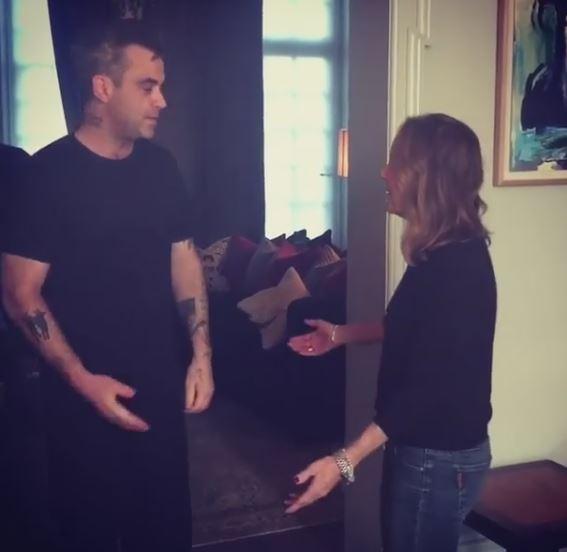 Robbie Williams scherza sul disinfettante con un video su Instagram