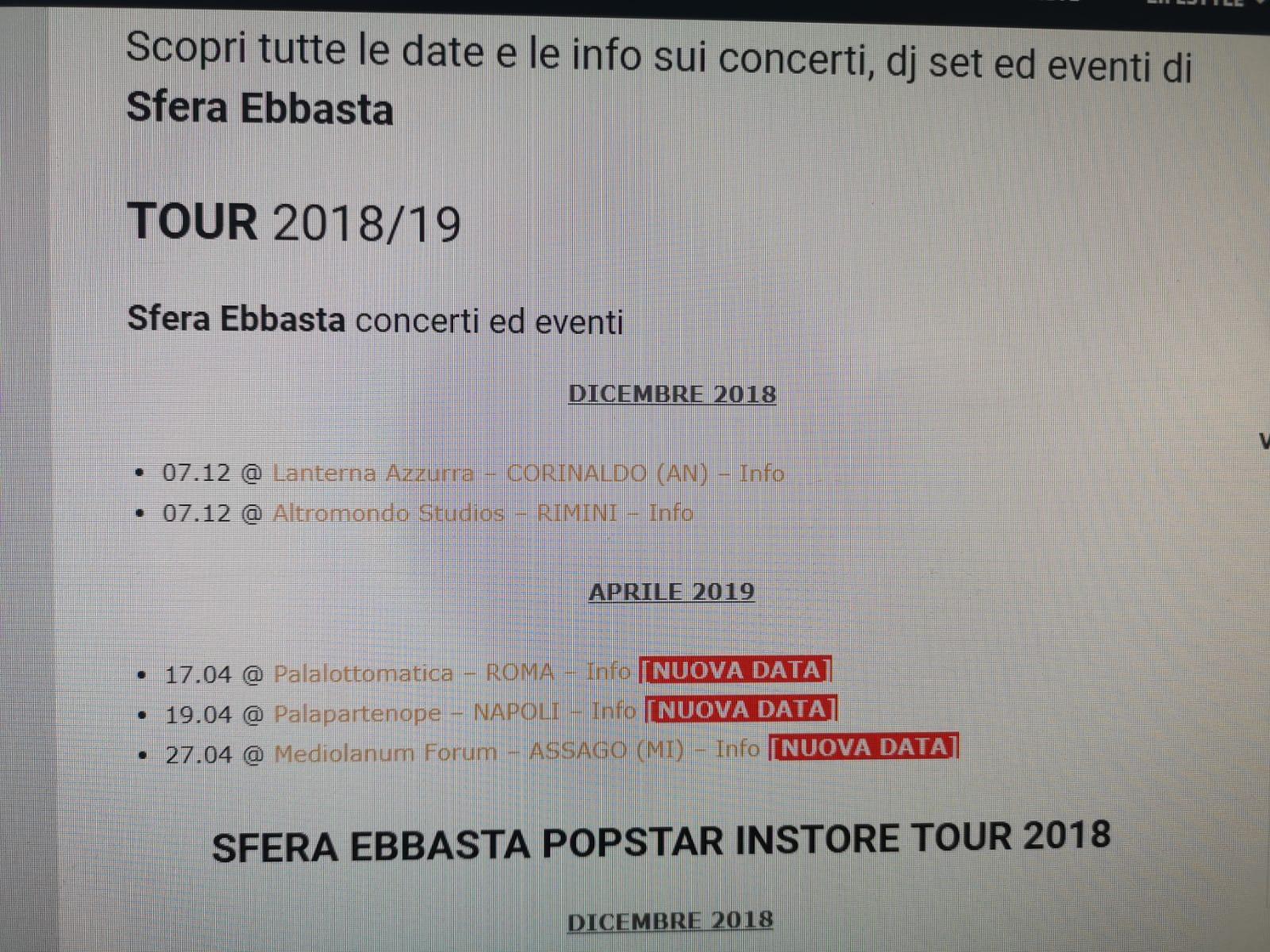 Sfera Ebbasta, gli eventi programmati il 7 dicembre