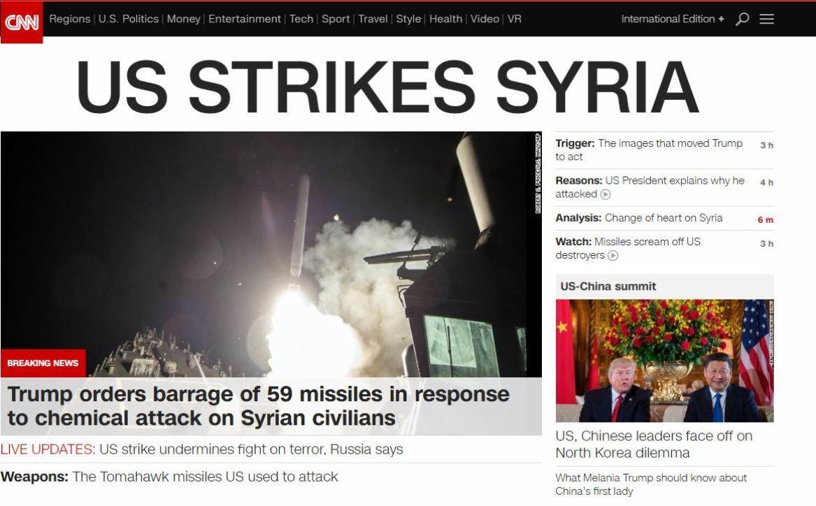 Raid Usa in Siria, la notizia sui siti del mondo