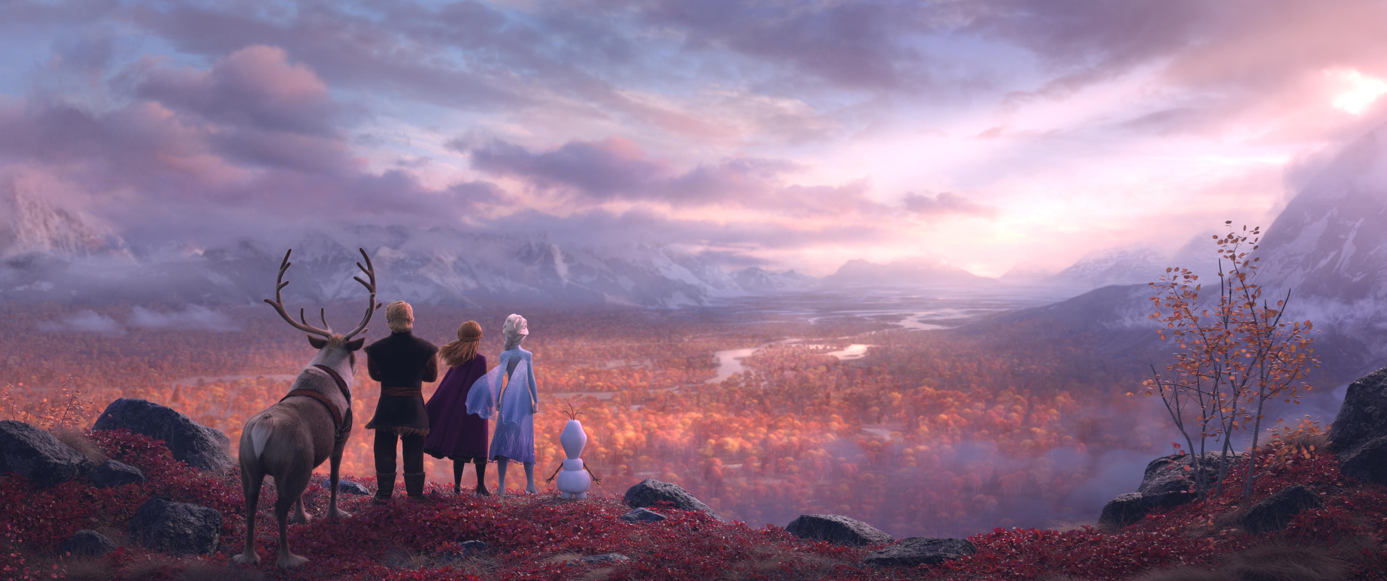 Frozen 2 - Il segreto di Arendelle , le foto di scena e i poster