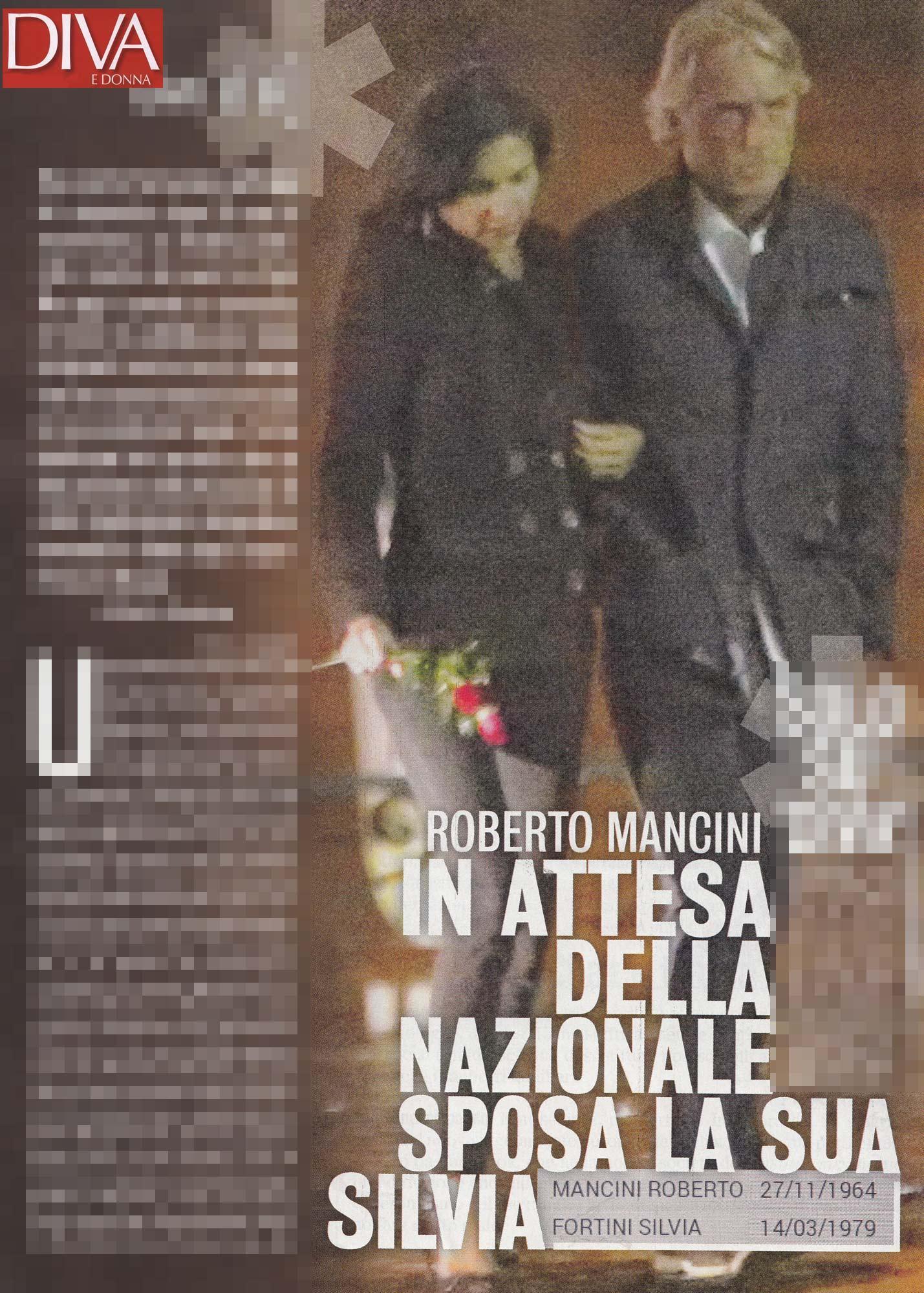 Roberto Mancini, in attesa della Nazionale il tecnico sposa la sua Silvia